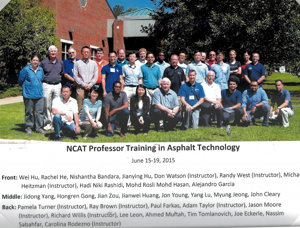 2015 NCAT Professor Training Class Photo